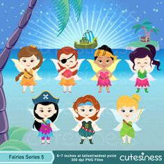 Fairy Digital Clipart Cute Fairy Clipart Tinkerbell by Cutesiness