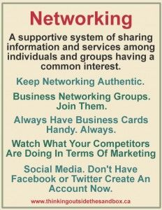 What You Need To Know About Networking - Thinking Outside The Sandbox WAHM Small Business and Social Media