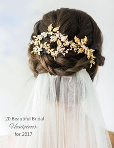 20 Beautiful Bridal Headpieces for 2017 - Designers such as Liv Hart, Percy Handmade, Hermoine Harbutt and Twigs & Honey are turning out some of our most lusted after looks for 2017, and our favourites from their latest collections are featured below!