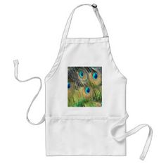 Peacock Feathers Eyes All New Growth Adult Apron