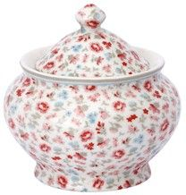 This sweet chintzy sugar bowl is from Greengate