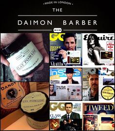 ขอบคุณเพื่อนๆ แฟนเพจที่มาอุดหนุน Daimon Barber Pomade คุณภาพ premium จากอังกฤษ   Pomade แบรนด์นี้เลือกใช้วัตถุดิบคัดสรรค์และกลิ่นหอมสไตล์ผสมผสานที่หรูหรามีเอกลักษณ์ พร้อมกระปุกแก้วสี เหมาะแก่การซื้อสะสมหรือเป็นของฝาก  Daimon Barber จัดเป็นแบรนด์ pomade แบรนด์นึง ที่ดีที่สุดในท้องตลาด ได้รับการกล่าวถึง/ตีพิมพ์ในนิตยสาร fashion ชายชั้นนำ อาทิเช่น GQ, Esquire, Men's Health เพื่อนๆพลาดกันไม่ได้เลยนะครับ สำหรับ Daimon Barber no 4 & 5 ตัวล่าสุดของแบรนด์คุณภาพแบรนด์นี้  Credit: Daimon Barber, Dandy…