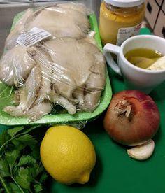 ΜΑΓΕΙΡΙΚΗ ΚΑΙ ΣΥΝΤΑΓΕΣ: *Μανιτάρια πλευρώτους !!! Desert Recipes, Fresh Rolls, I Foods, Garlic, Stuffed Mushrooms, Deserts, Beverages, Turkey, Food And Drink