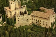 Castle Overlooking Lake Garda for Sale. Fabulous castle dating from the Century near Lake Garda, in a dominant position with lake view. Protected Species, Castle Wall, Lake Garda, Terrace Garden, 12th Century, Lake View, Tuscany, Monument Valley, Mount Rushmore