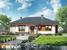 Dom we wrzosach 2 Bungalow, Normal Wallpaper, Little Houses, Home Theater, Planer, Rugs On Carpet, Interior And Exterior, Beautiful Homes, Gazebo
