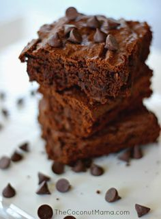 Coconut Flour Brownies Gluten Free & Dairy Free - Keto Brownies - Ideas of Keto Brownies - Double Chocolate Coconut Flour Brownies Also dubbed the best coconut flour brownies Keto Brownies, Coconut Flour Brownies, Baking With Coconut Flour, Gluten Free Brownies, Coconut Flour Desserts, Almond Flour, Coconut Flour Cookies, Coconut Flour Chocolate Cake, Tigernut Flour