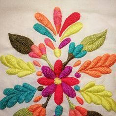Wonderful Ribbon Embroidery Flowers by Hand Ideas. Enchanting Ribbon Embroidery Flowers by Hand Ideas. Mexican Embroidery, Crewel Embroidery Kits, Hand Embroidery Tutorial, Learn Embroidery, Embroidery Needles, Silk Ribbon Embroidery, Embroidery For Beginners, Hand Embroidery Designs, Embroidery Techniques