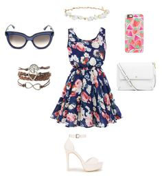 """""""Summer Fun!!"""" by queenbanana25 ❤ liked on Polyvore featuring Robert Rose, Nly Shoes, Tory Burch, Casetify and Valentino"""