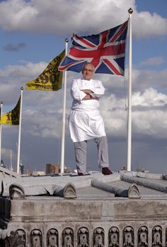 Pierre Koffmann on the roof of Selfridges for Restaurant on the Roof, 2009