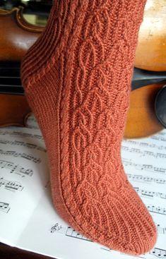 Ravelry: Baroque pattern by Janice Kang Crochet Socks, Knit Or Crochet, Knitting Socks, Hand Knitting, Knit Socks, Knitting Patterns Free, Knit Patterns, Free Pattern, Baroque Pattern
