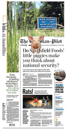 The Virginian-Pilot's front page for Saturday, June 1, 2013.