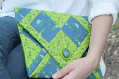 SafariMoon Clutch | Frances Newcombe for Art Gallery Fabrics