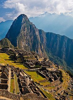 Machu Picchu, Peru – Natural Beauty in South America...FYI the ruins in machu picchu were made...not natural.  ;)