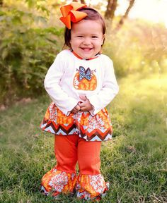 e418d391e6c9 AnnLoren Pumpkin Patch Thanksgiving Set