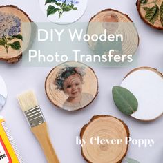 Clever poppy s diy wooden photo transfers tutorial to learn how to display your photos in a new way! wooden rounds and mod podge from warehouse stationery will help you bring to life your memories and create diy home decor homedecor modpodge diydecor Diy Crafts Hacks, Diy Home Crafts, Crafts For Gifts, Christmas Crafts For Kids, Diy Christmas Gifts, Summer Crafts, Beach Crafts, Xmas, Wooden Photo Transfer