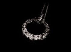 Notte a Levanzo Necklace Close Up - #digregorio_milano #blackandwhitediamonds #whitegold #necklace #stars #finejewellery #luxury