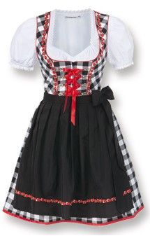 German mini dirndl 2pcs. Joy black 50 cm oktoberfest dirndl