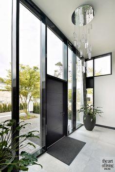 Dream Home Design, My Dream Home, Home Interior Design, Exterior Design, Interior And Exterior, House Design, Modern Entrance Door, Modern Foyer, Flur Design