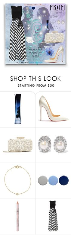 """""""Prom Night"""" by evelynn-cole ❤ liked on Polyvore featuring Giorgio Armani, Christian Louboutin, Oscar de la Renta, Kenneth Jay Lane, Burberry, Gina Bacconi, Prom, PROMNIGHT and dreams"""