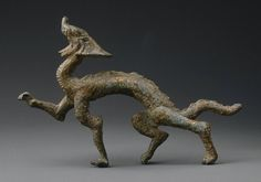 Striding dragon  Chinese, Northern Wei dynasty, A.D. 220–589,   Gilt, bronze