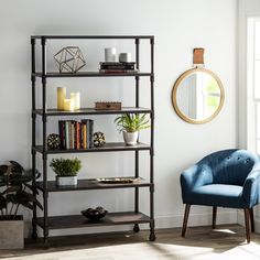 Renate Bookcase Coffee Finish | Overstock.com Shopping - The Best Deals on Media/Bookshelves