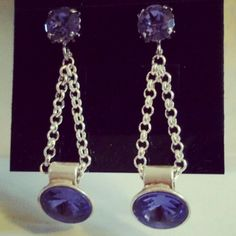 ... I also really like the style without. I love the simplicity.  #earrings #swarovski #crystals