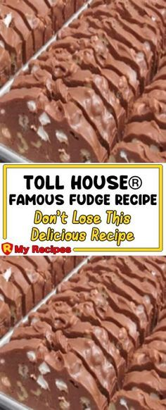 Toll House® Famous Fudge Recipe – Page 2 – Cooking Band Candy Recipes, Baking Recipes, Sweet Recipes, Holiday Recipes, Dessert Recipes, Southern Recipes, Mr Food Recipes, Cake Boss Recipes, Baking Ideas