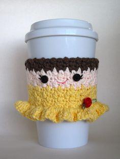 Crochet Belle Princess Coffee Cup Cozy by TheEnchantedLadybug, $15.00