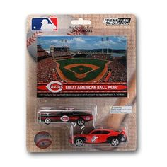 New! Cincinnati Reds Ford Mustang And Dodge Charger 1:64 Scale Diecast Cars #CincinnatiReds