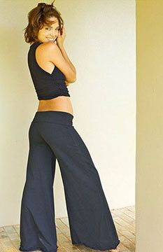 Dharma Pant Long by The Queen of Hearts The OM Collection's Flowy Yoga Pants, Flowy Dance Pants. Bell Bottom Yoga Pants, Wide Leg Yoga Pants, Flowy Pants, Boho Pants, Dance Pants, Yoga Fashion, Portrait Inspiration, Wearing Black, Black Cotton
