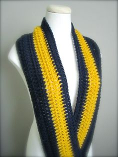 Crochet Blue and Gold NHL NFL Hockey College by craftsbybeck, $15.00