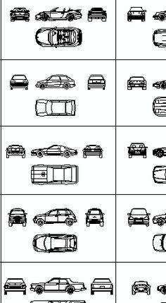 Cars And Vehicles Cad Blocks