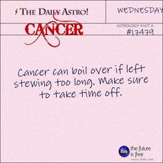 Cancer 17479: Check out The Daily Astro for facts about Cancer. There's tons of fascinating all-cancer reading on the best site for free astrology info.