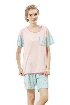 Cokar Pure Cotton Nightwear Short Sleeves Pajamas Set Cokar http://www.amazon.com/dp/B00WREBADI/ref=cm_sw_r_pi_dp_QeCiwb1W9H03T