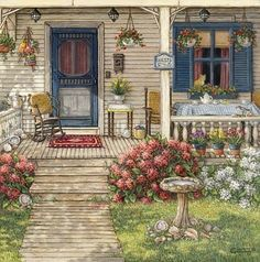 Front Porch in Maine