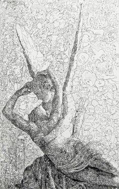 SUPERBES ILLUSTRATIONS DOODLES DU JAPONAIS SAGAKI KEITA: une vraie belle image tout en gribouillages.