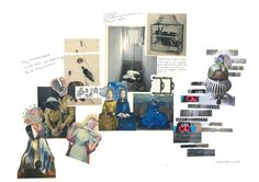 Sketchbook Layout, Textiles Sketchbook, Sketchbook Inspiration, Fashion Sketchbook, Fashion Portfolio Layout, Portfolio Design, Fashion Design Template, Portfolio Presentation, Collage Art