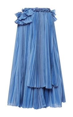 lily Vintage blue calypso skirt