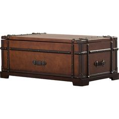 Laudes Steamer Trunk Lift Top Coffee Table I Riverside Furniture Home Decorating Ideas Pinterest And