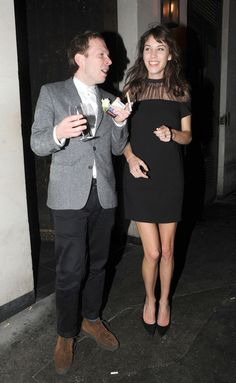 Alexa Chung and Alex Miller hanging out at Hix Night Club (London) and restaurant the night before The Brits Awards 2013, February 20, 2013