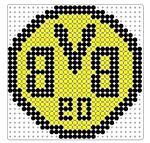 bvb Melty Bead Patterns, Pearler Bead Patterns, Perler Patterns, Perler Bead Art, Perler Beads, Beaded Bracelet Patterns, Beading Patterns, Hama Beads Kawaii, Dragon Names
