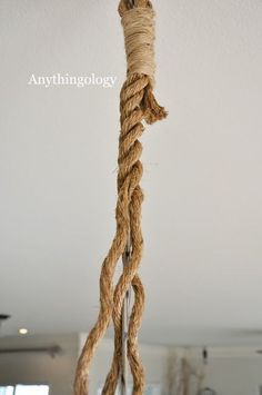 unwrap rope then re-wrap around electrical cord tightly