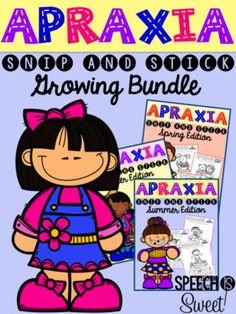 Apraxia: Snip and Stick for the YEAR! Fun and engaging color, cut, and glue activities for speech therapy! Addresses CV, VC, CVC, CVCV, CVCVC, CVCVCV, CVCC, and CCVC!