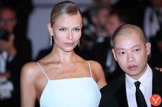 Natasha Poly and Alexander Wang at Cannes 2017 by Mickael Chavet