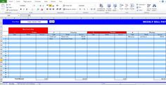 Employee Absence Schedule Template | time management and ...