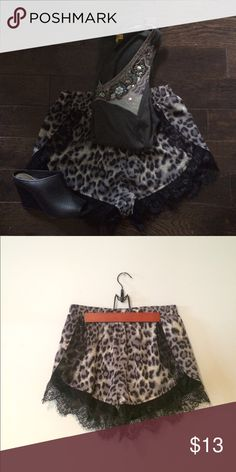 Leopard Lace Shorts🌿 Great condition. Tag says medium will fit a small. BOUTIQUE BRAND Free People Shorts