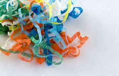 Picture of The streamers from a party popper. stock photo, images and stock photography. Party Poppers, Streamers, Stock Photos, Creative, Projects, Pictures, Inspiration, Log Projects, Photos