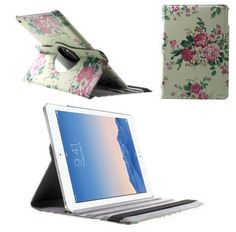 iPad Air 2 Flowers PU Leather Cases 360 Degree Rotating Rotating PU Leather Skin Case Cover For Ipad Air 2 Ipad 6