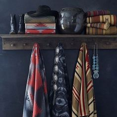 """""""The Ranch"""" fabric collection inspired by Ralph & Ricky's Double RL Ranch in Colorado. Fabric is available through special order (photo taken via 📸@ralphlaurenhome). #ralphlaurenhome #ralphlauren #rrl #doublerl #ranchlife #rustic #rusticliving #textiles #fabric #allamerican #homedecor #design #kirkland #ivygiftandhome"""