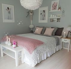 An improved, feminine bedroom that provides an area to remainder, research study. An improved, feminine bedroom that provides an area to remainder, research study or captivate pals in vogue. Pops of pin. Teenage Girl Bedroom Designs, Cool Teen Bedrooms, Awesome Bedrooms, Beautiful Bedrooms, Trendy Bedroom, Pink Bedrooms, Modern Bedroom, Bedroom Ideas For Small Rooms For Girls, Small Bedroom Hacks